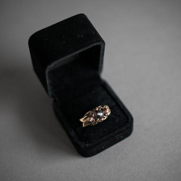 Gemini Ring - Brass and Quartz