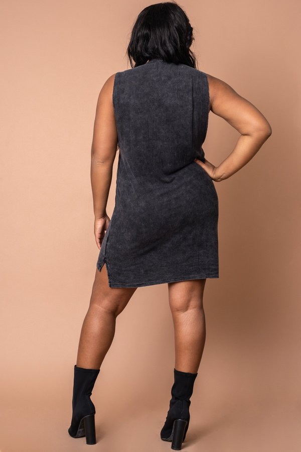 Graphite Rib Easy Livin Dress