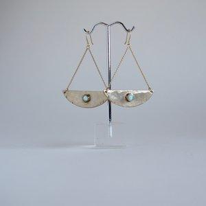 Hanging Moon Earrings