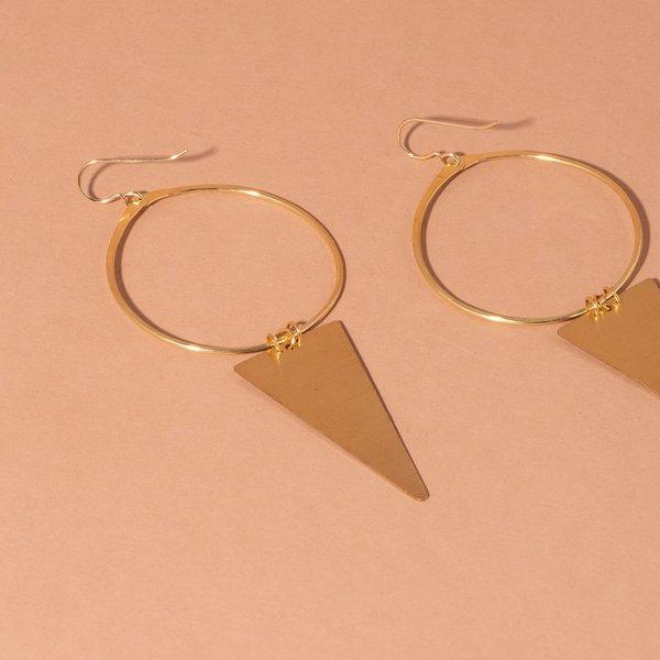 Hoop and Triangle Earrings