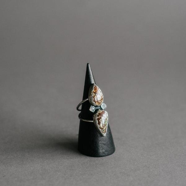 Hubei Turquoise Double Teardrop Ring