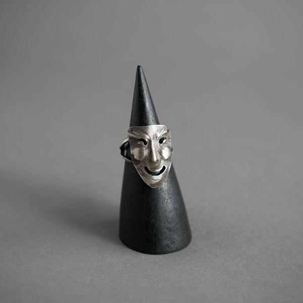 Janus Mask Ring - Smiling