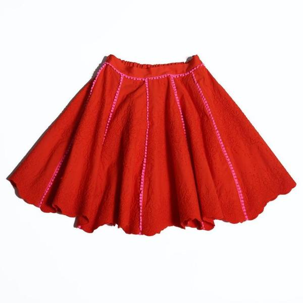 Kids tia cibani karikazo dance skirt - geranium