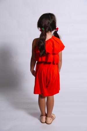 Kids tia cibani zoya off the shoulder blouse - geranium