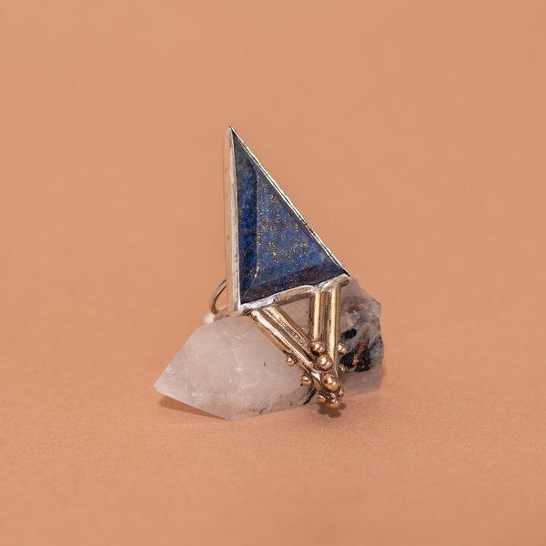 Lapis Triangle Ring
