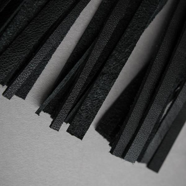 Long Leather Tassel Choker