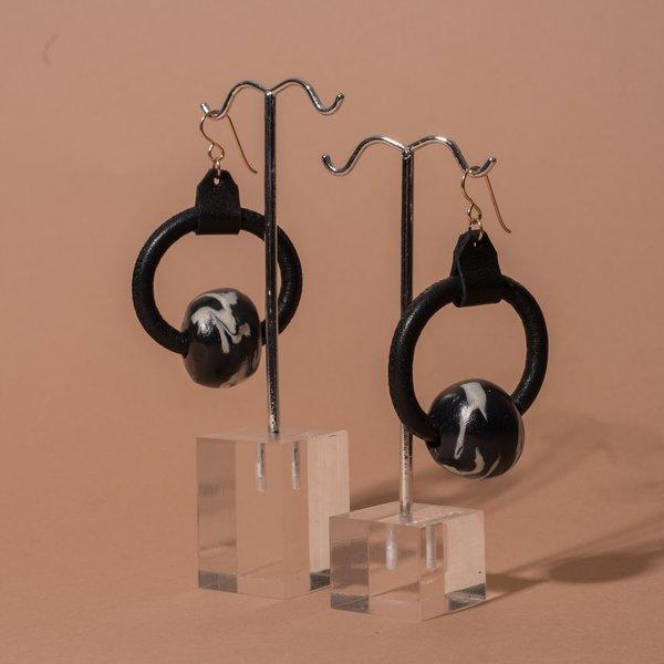 Loop Earrings with Marble Beads