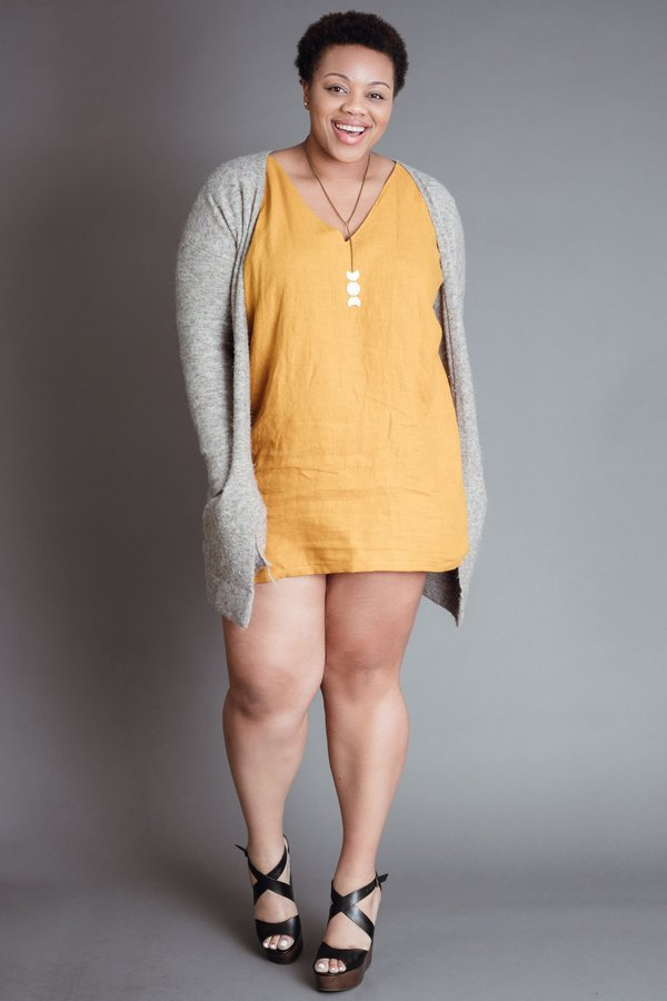 Marigold Deep V Dress