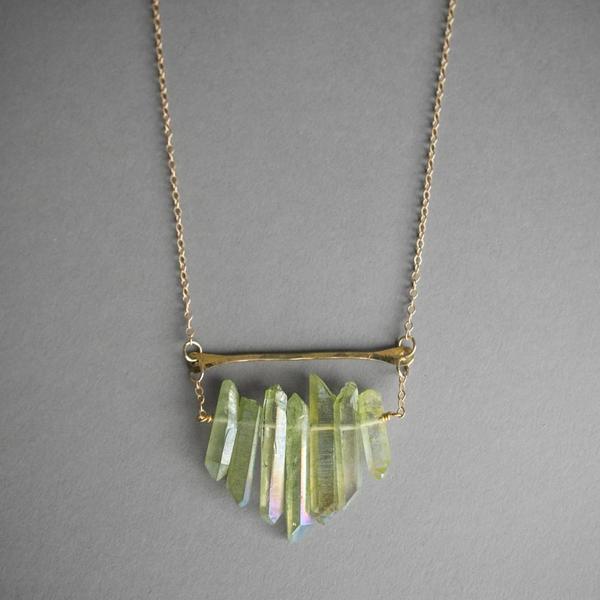 Multicrystal Necklace - Emerald