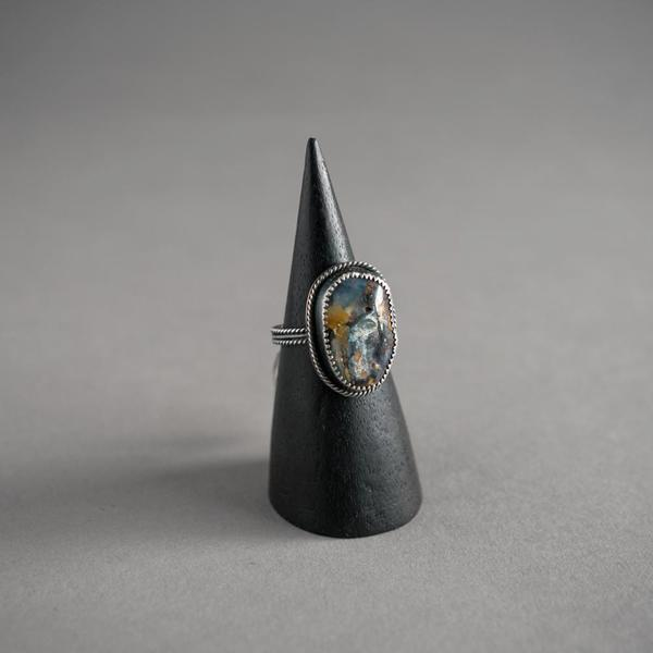 Natural Boulder Opal Chunky Ring