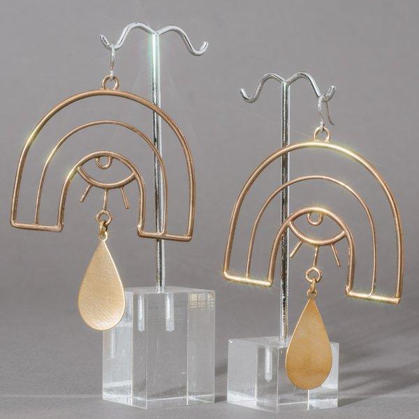Refract Brass Earrings