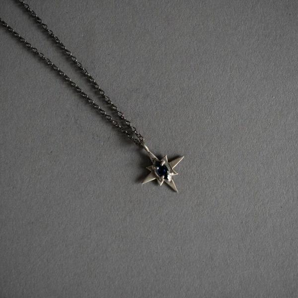 Sapphire North Star Necklace