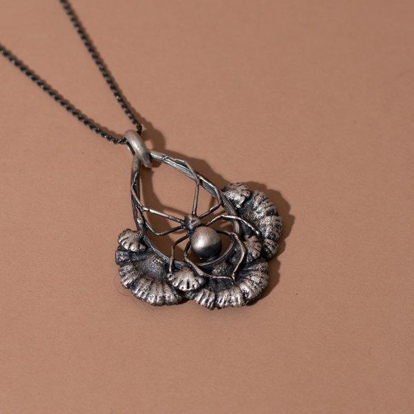 Spider Mushroom Necklace