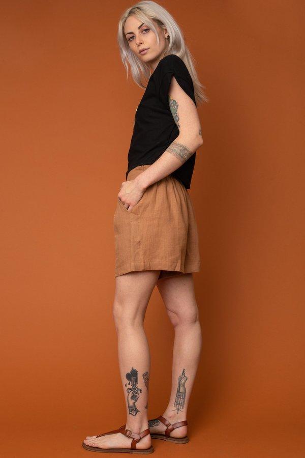 Tan Valentina Shorts