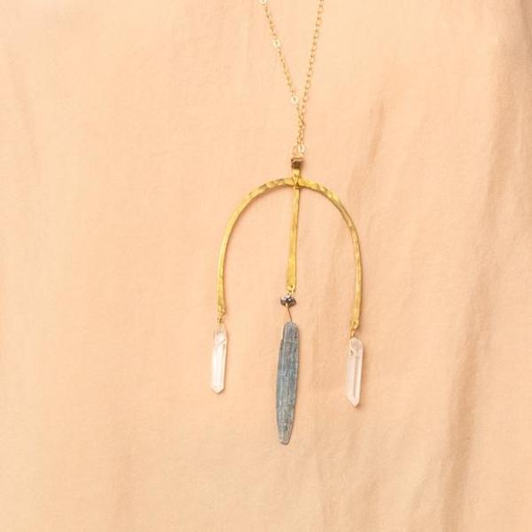 Tri Crystal Necklace