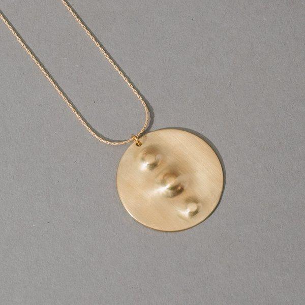 Triple Nipple Brass Necklace
