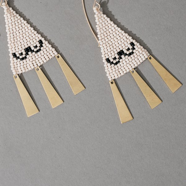 Woven Boob Earrings with Gold Danglers