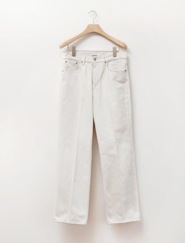 Auralee Hard Twist Denim Pants - White Ivory