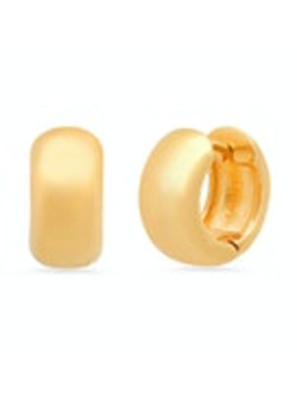 Tai Chunky Mini Huggie Earrings - Gold