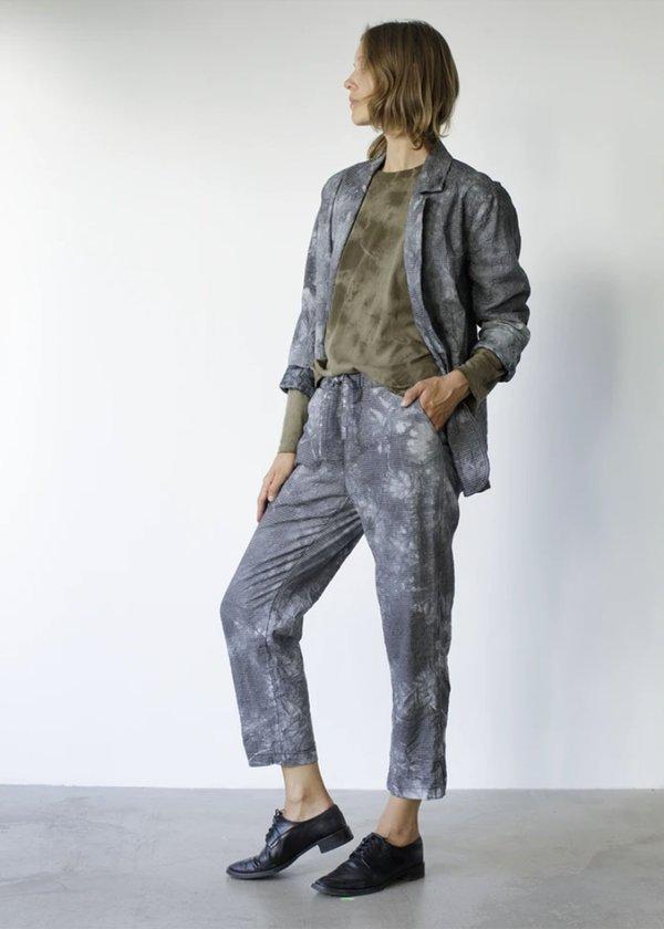Raquel Allegra Drawstring Pant - Black Tie Dye