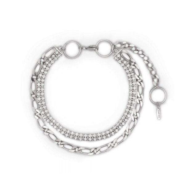 Joomi Lim Layered Chain, Hoop & Crystal Necklace - Silver