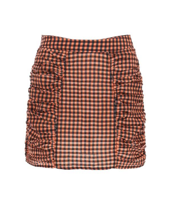 Ganni Seersucker Check Mini Skirt - Multicolor