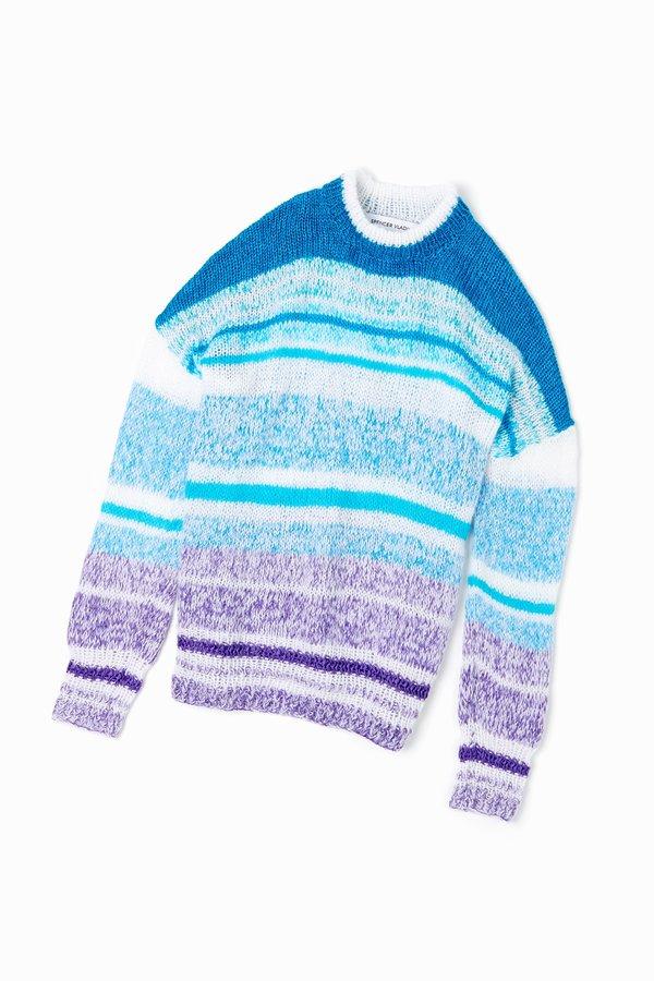 Spencer Vladimir Neptune Ombre Sweater - Turquoise/Violet