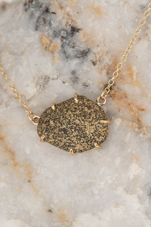 Jess Meany 7 Stone Necklace - 14k gold-filled