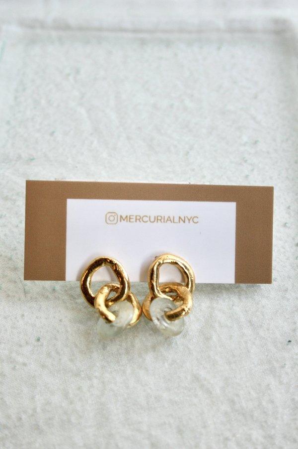 Mercurial NYC Fluorite Chain Earring - Clear
