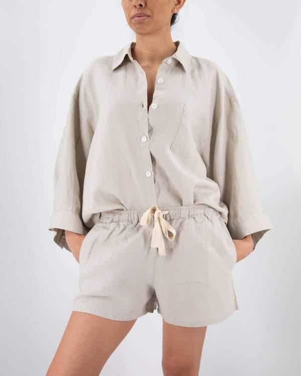 Sunday Morning - Carrie Linen Sleepwear Set
