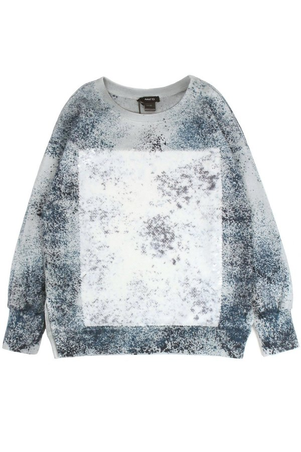 Avant Toi Sweater W/ Sequins and Powder Effect