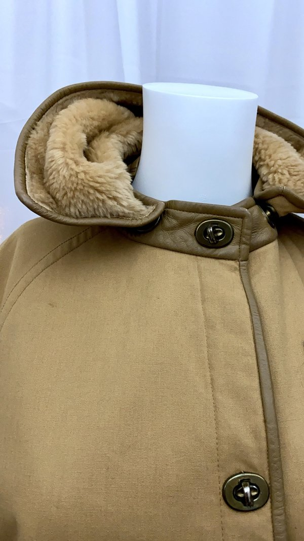 pre-loved 60's SILLS by Bonnie Cashin for Saks  Canvas Coat - taupe/tan