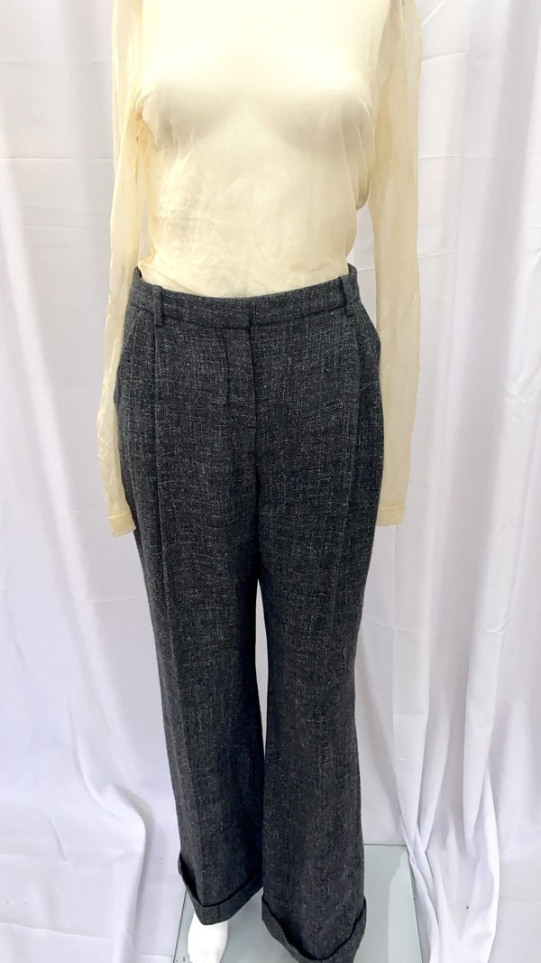 pre-loved Robert Rodriquez Wool Trousers - charcoal grey