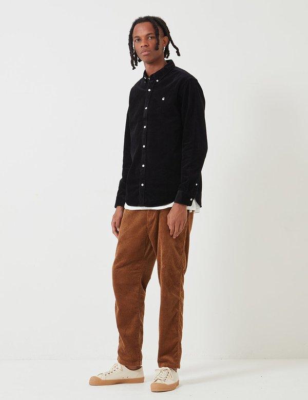 Carhartt-WIP Madison Cord Shirt (6.5 oz) - Black/Wax