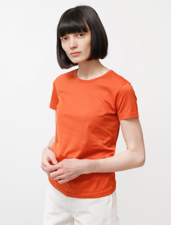 Sunspel Classic Crew Neck T-Shirt - Burnt Orange