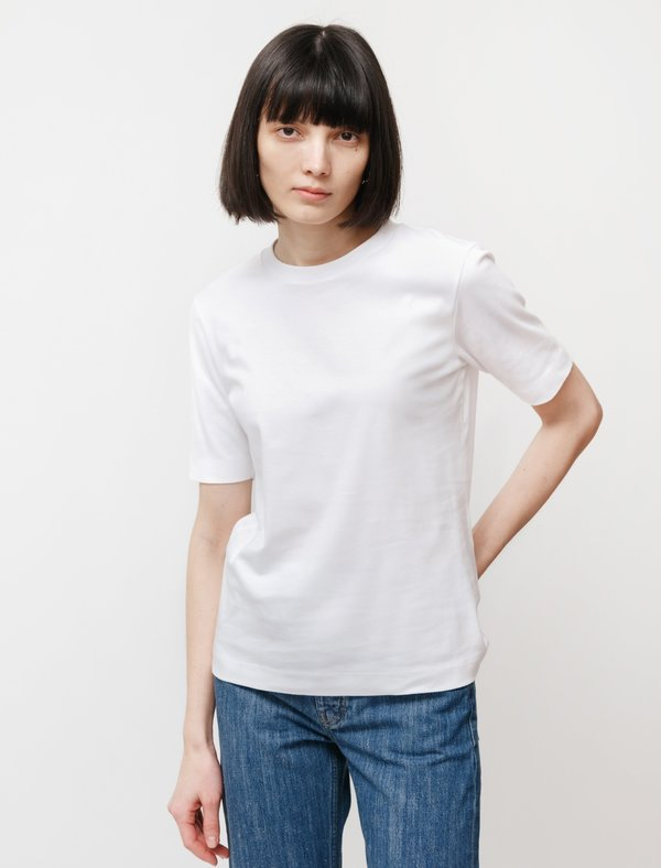 Sunspel Mid Sleeve T-Shirt - White