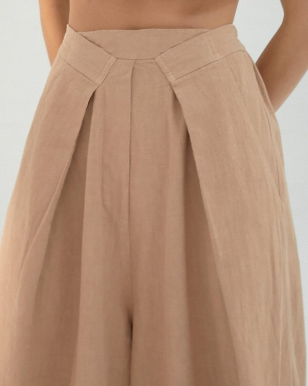 Mónica Cordera Pleat Front Pants - Cork