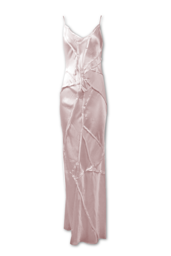 KES Elongated Recycled Dress-Light Pearl