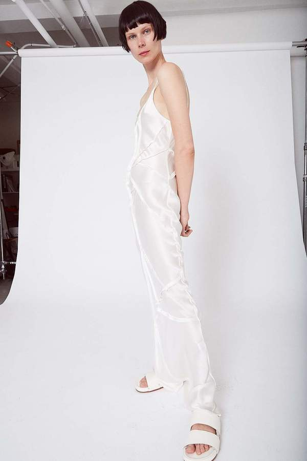 KES Elongated Recycled Dress-Quartz