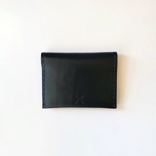 Leather Pocket Wallet, Black