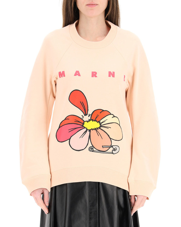 Marni Flowers Print Sweatshirt