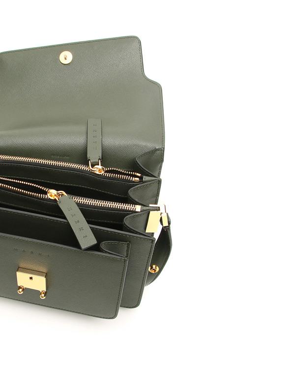 Marni Saffiano Medium Trunk Leather Bag