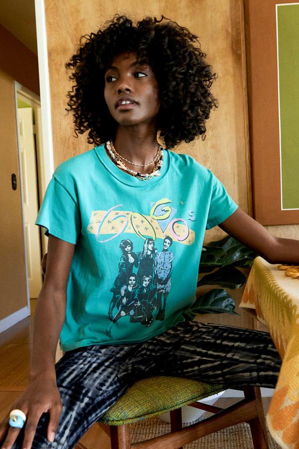 Daydreamer The Go-Go's Reverse Girlfriend Tee - Fresh Green