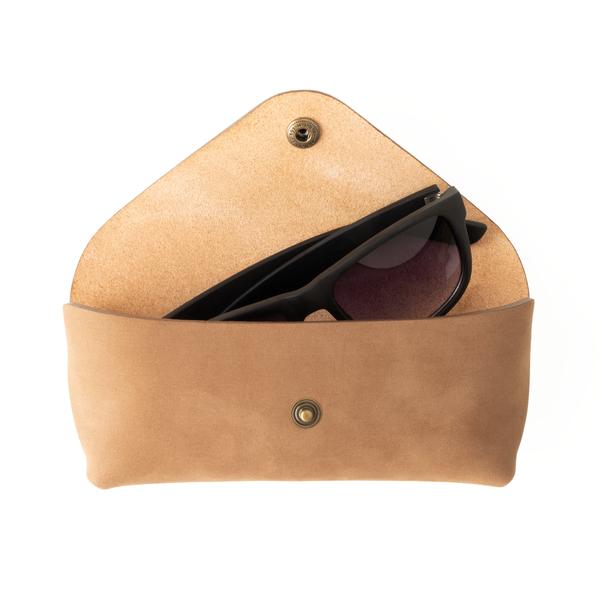 UNISEX MAKR Tab Eyewear Case - Horween Dark Tan