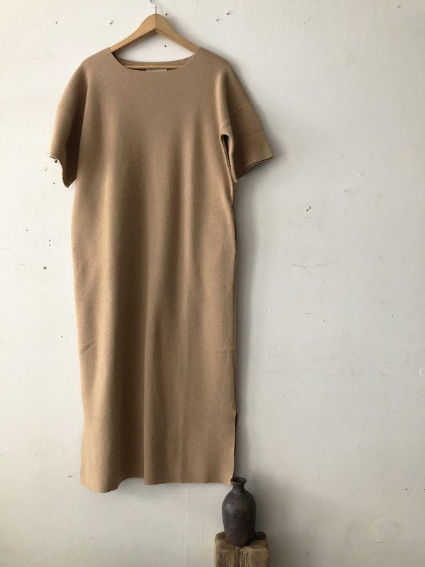 Lauren Manoogian Interlock Tall T Dress - Tannin