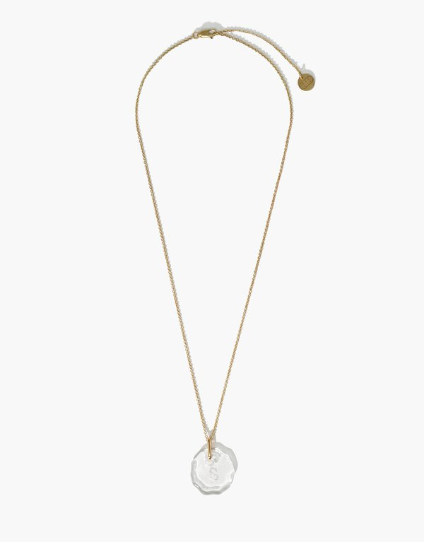 Cled Messenger Clear Engraving Necklace