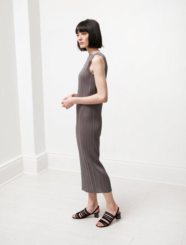 Pleats Please by Issey Miyake Basics Tank Dress - Grey