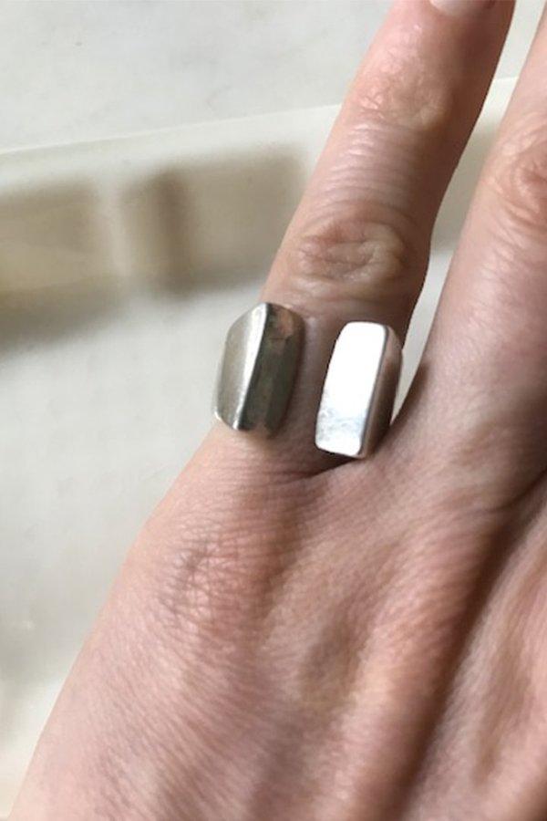 Vintage Midcentury Scandinavian Split Angled Ring