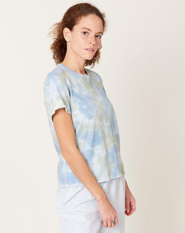 Raquel Allegra Boy Tee - Sky Camo Tie Dye