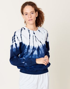 Raquel Allegra Classic Sweatshirt - Indigo Hilma Tie Dye